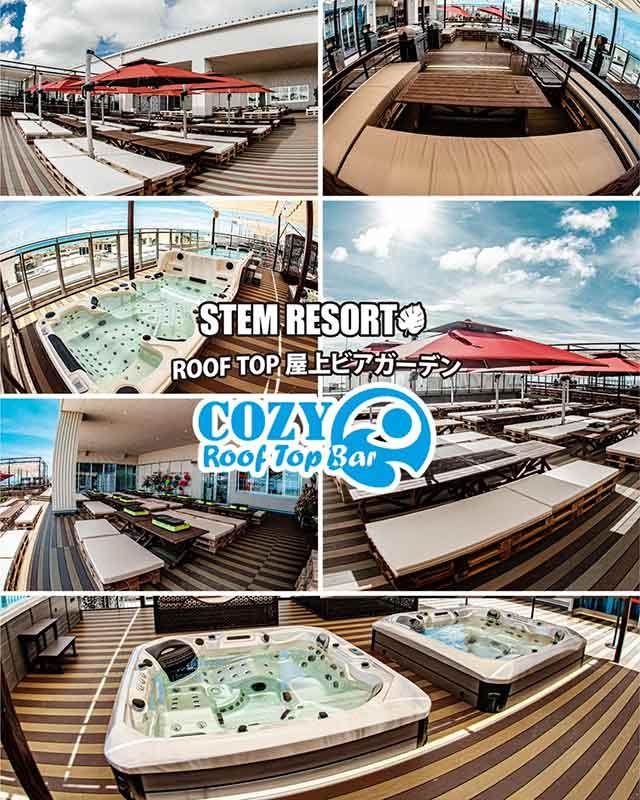 cozy roof top bar コージールーフトップバー|DINOSAUR BBQ & PARK|ステムリゾート沖縄