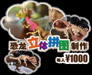 恐龙立体拼图制作 STEM-RESORT 冲绳 丰崎
