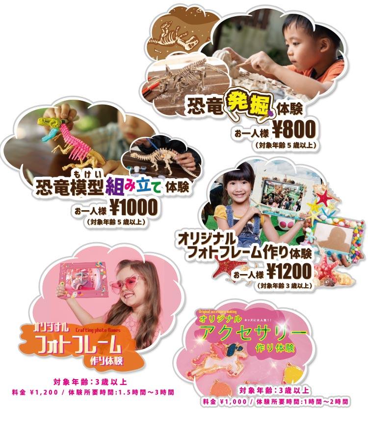 親子で体験プログラム|DINOSAUR BBQ & PARK 沖縄 ステムリゾート
